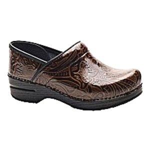 Dansko Professional Tooled Leather Clog.
